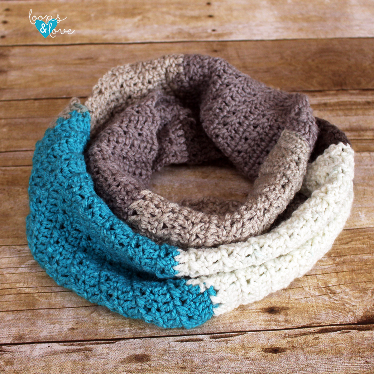 Criss Cross Stitch Infinity Scarf