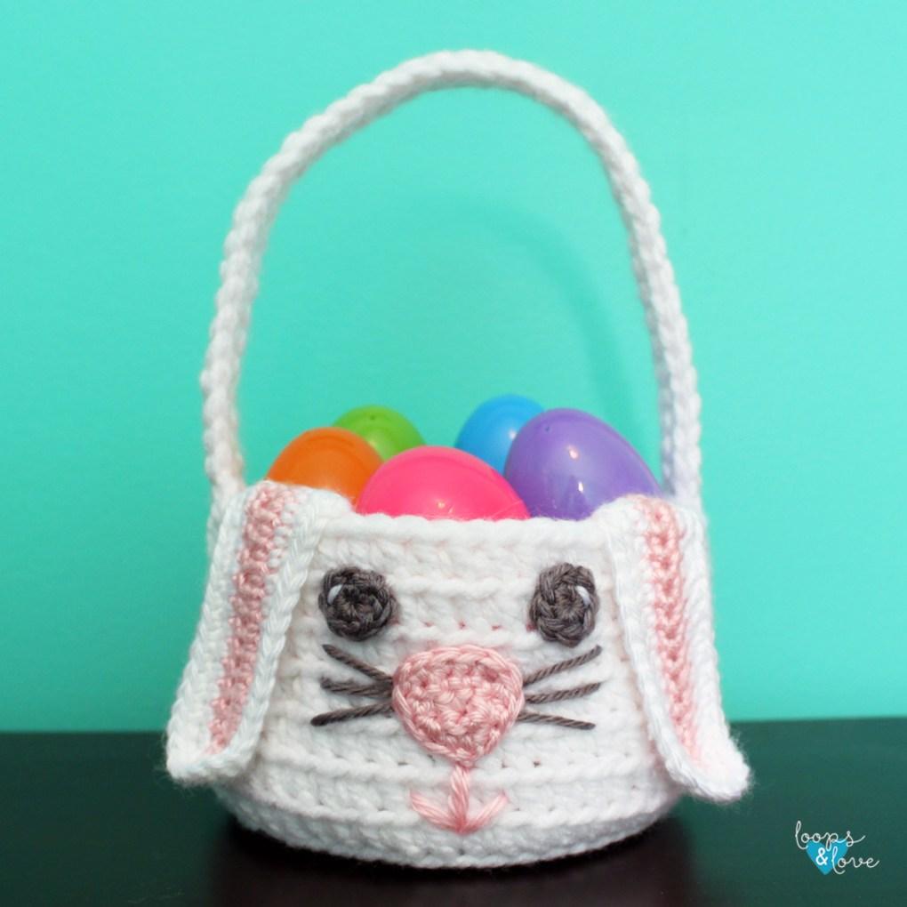 Crochet Bunny Basket