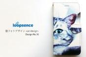 猫フォトデザイン。オリジナルスマホケース手帳型No.16