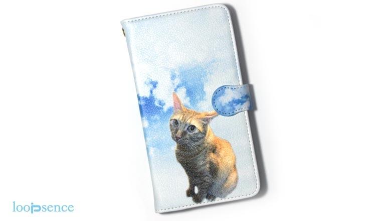 AndroidONEループセンス愛猫のオーダースマホケース作品