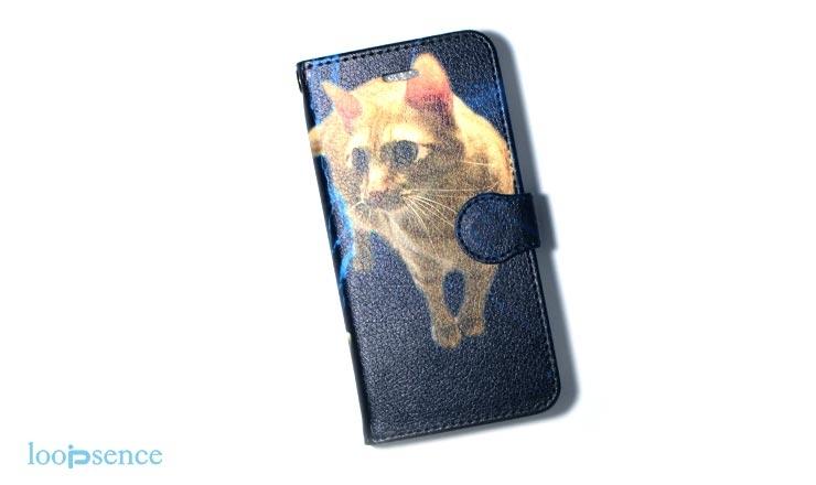 iPhone7用ループセンス愛猫のオーダースマホケース作品