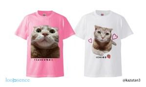猫のオーダーTシャツ作品