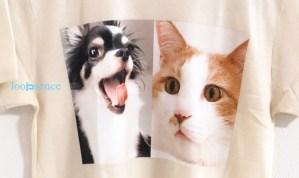 愛犬、愛猫のオーダーTシャツ