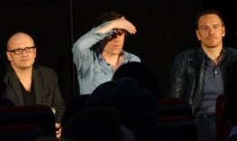 Lenny Abrahamson, Domnhall Gleeson & Michael Fassbender at Frank