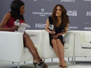 Salma Hayek at He For She panel.