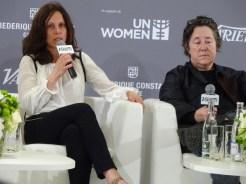Christine Vachon and Elizabeth Karlsen at He For She Panel