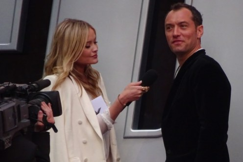 Jude Law at Spy movie premiere in London