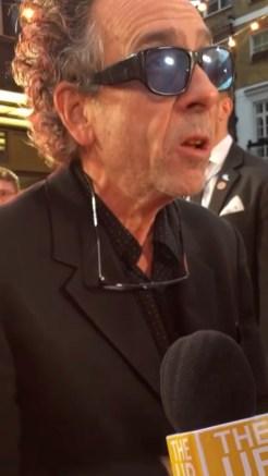 Tim Burton at the Dumbo European Premiere