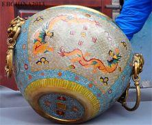 Chinese Royalty Cloisonne Huge Incense Burner