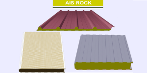 Panel sandwich de lana de roca Ais Rock
