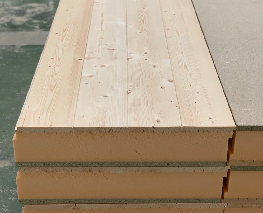 suministro panel Sandwich madera cemento