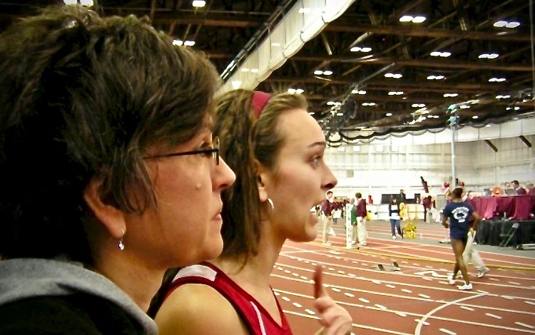 The moment Audrey Smoot realized she had, in fact, won the Big Ten title in the 600 meters at the 2008 Big Ten Indoor Track and Field Championships.