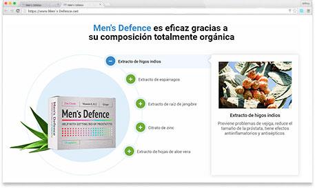 Men's Defence para qué sirve