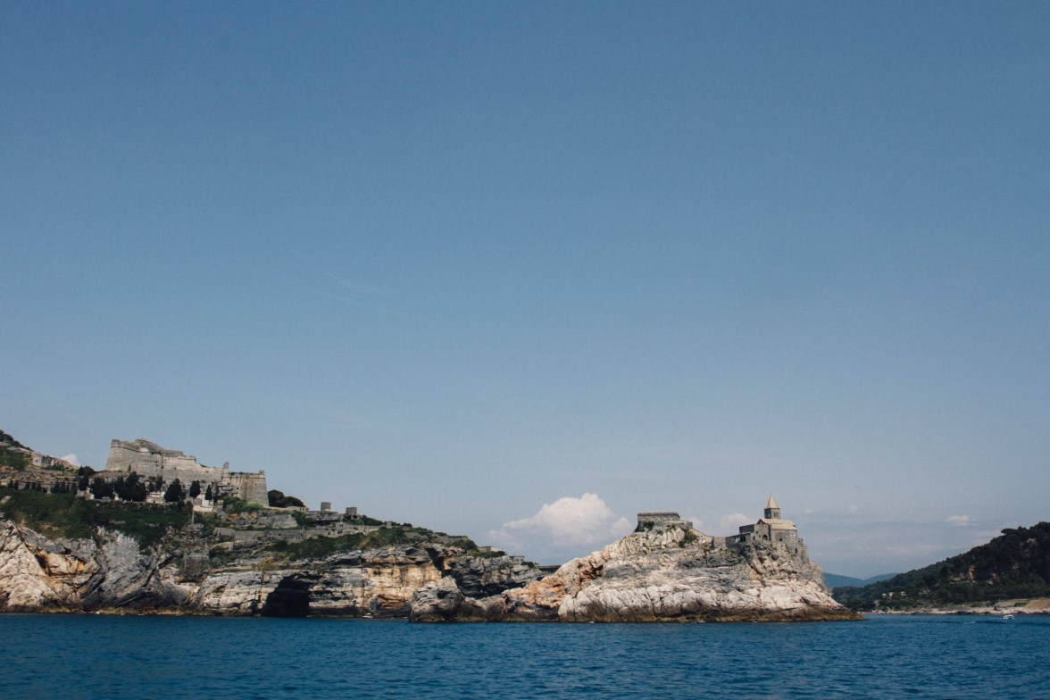 Porto Venere as you approach from the water.