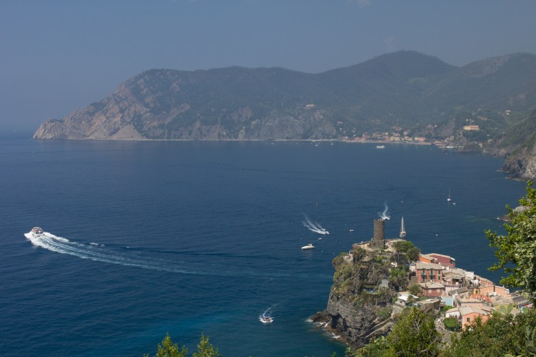 View or Vernazza as we finished up our hike.