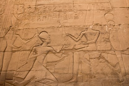 Hieroglyphs were on everything throughout Egypt. We were amazed how much was preserved in the valley of kings. Both the carving and the color.