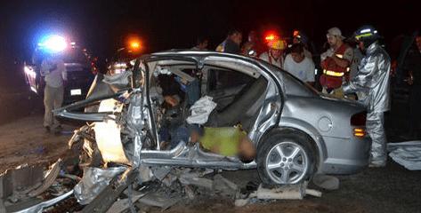 Tres muertos por choque en La Laguna - Foto de Milenio