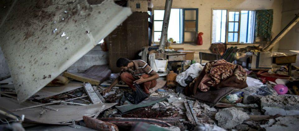Ataca Israel otro refugio de la ONU - foto de AFP