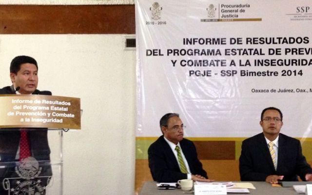 El procurador de Oaxaca, Héctor Joaquín Carrillo dio a conocer el aumento en la cifra de homicidios