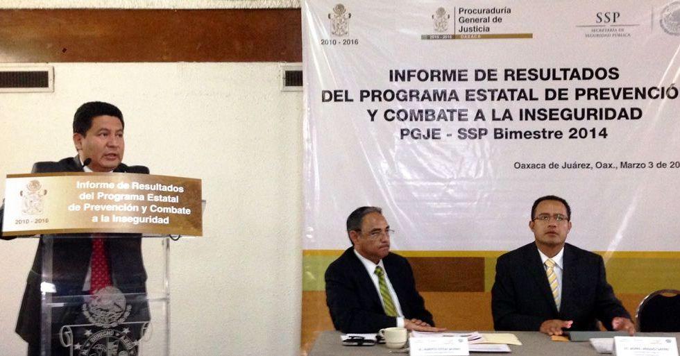 Homicidios en Oaxaca aumentan 20% en el 2014 - El procurador de Oaxaca, Héctor Joaquín Carrillo dio a conocer el aumento en la cifra de homicidios