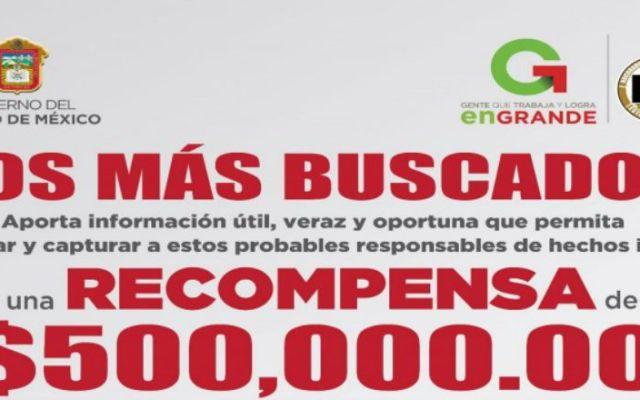 Publican listas de los más buscados en el Edomex - Foto de la PGJ Estado de México