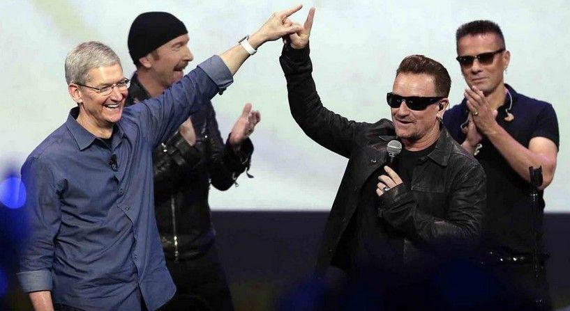 """Bono se disculpa por """"regalar"""" su disco por iTunes - Foto de Twitter"""
