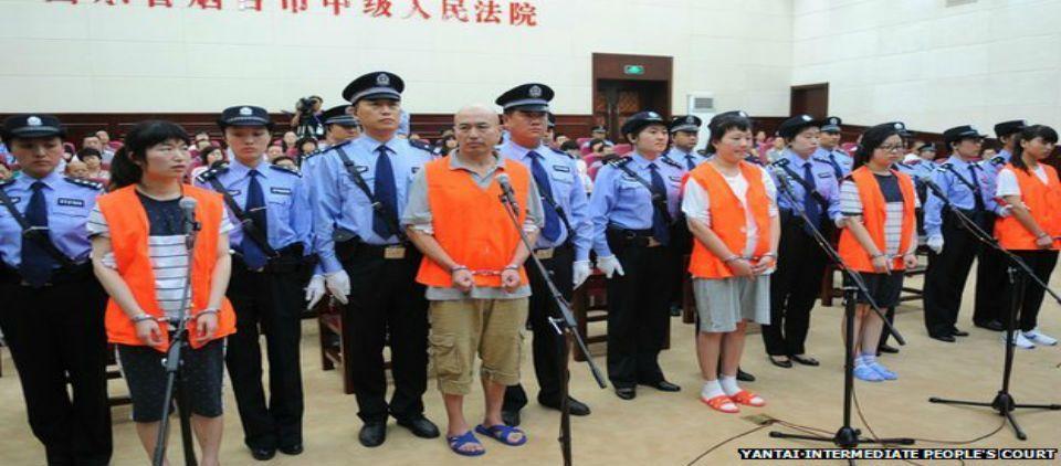 Tribunal chino sentencia a dos hombres de una secta a pena de muerte - Foto de BBC