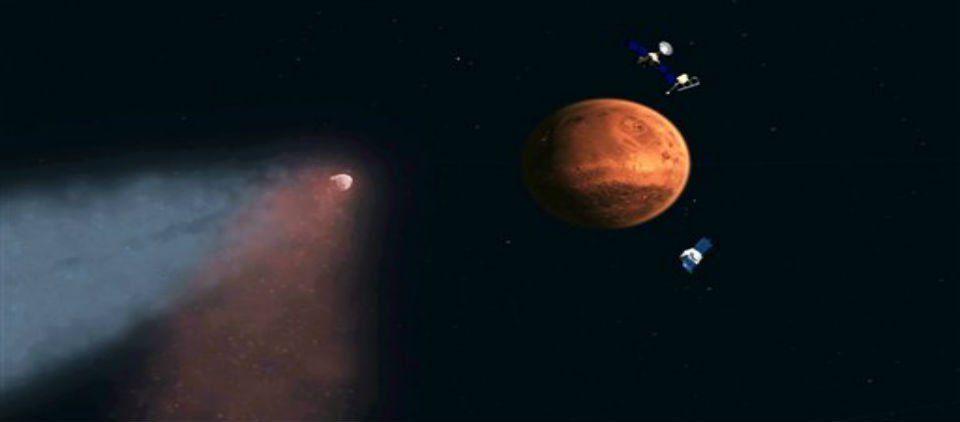 Cometa causa lluvia de meteoritos en Marte - Foto de AP
