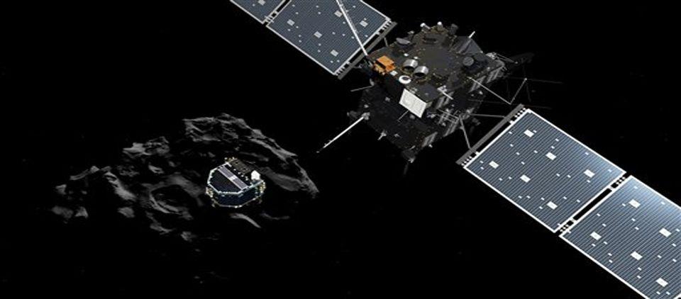 Nave espacial logra taladrar cometa y girar hacia la luz - Foto de AP