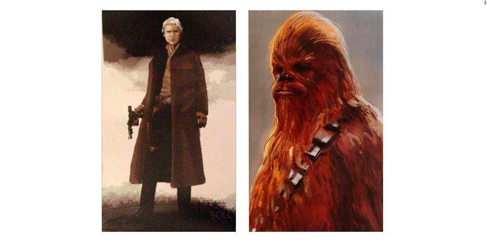 Revelan bocetos de Han Solo y Chewbacca para Star Wars VII - foto de El Universal