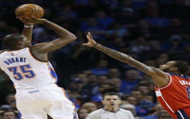 Durant anota 34 puntos en el triunfo del Thunder sobre Wizards - Foto de AP