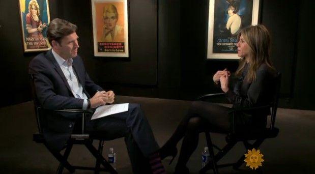Jennifer Aniston habla sobre su divorcio con Brad Pitt - Foto de CBS News