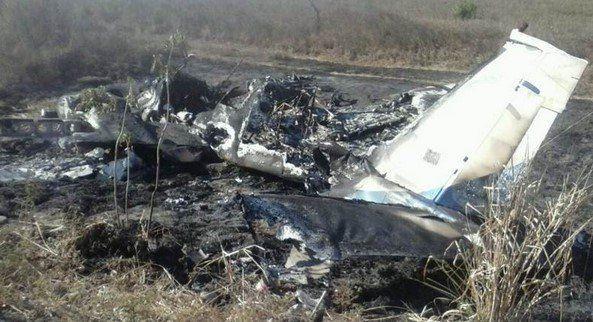 Encuentran avioneta calcinada en Chiapas - Avioneta en Pijijiapan, Chiapas