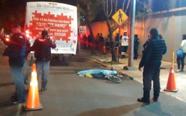 Muere ciclista atropellado en Mariano Escobedo - Ciclista atropellado