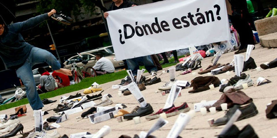 Manifestación por desaparecidos