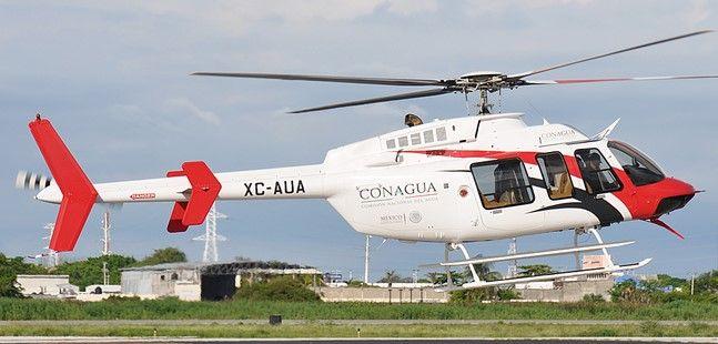Korenfeld se disculpó por usar helicóptero de CONAGUA - Helicóptero de Conagua