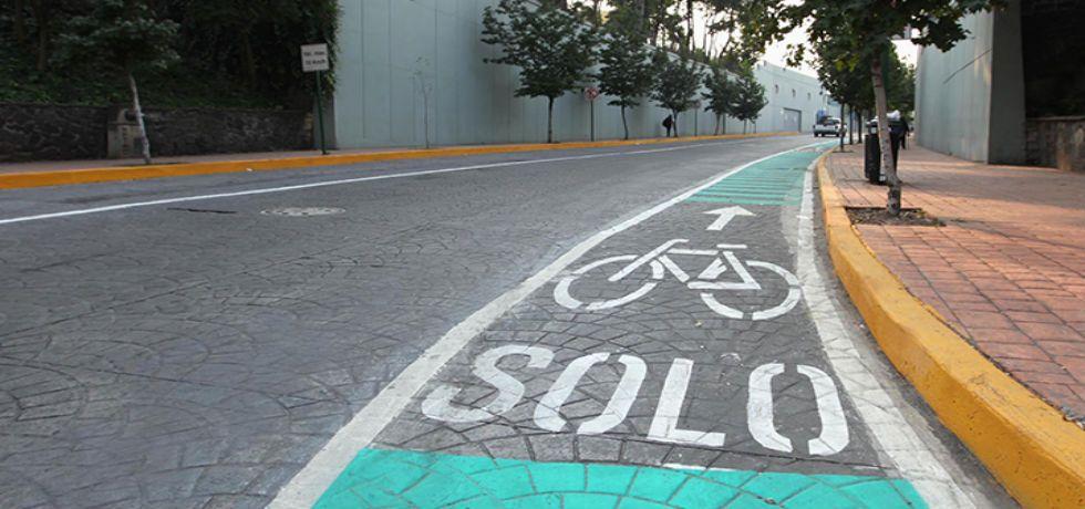 Alistan ciclovía entre Polanco y Naucalpan - Ciclovía en Miguel Hidalgo