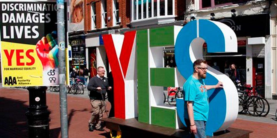 Irlanda aprueba matrimonio homosexual - Foto de AP