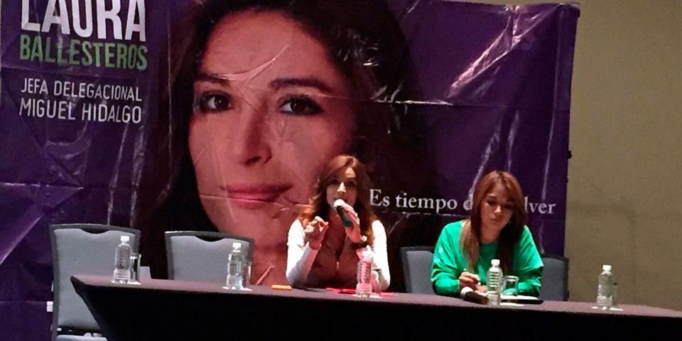 Laura Ballesteros denunciará a Xóchitl Gálvez por difamación - Laura Ballesteros. Foto de Reforma