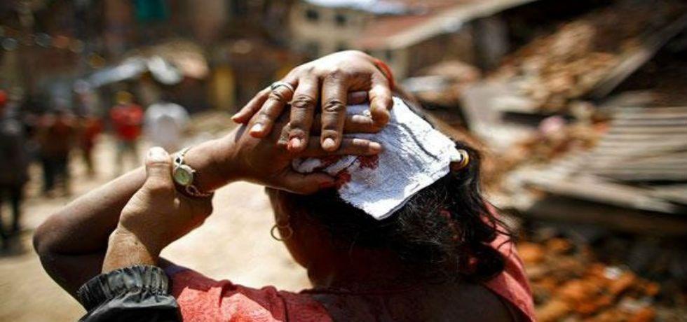 Vuelve a temblar en Nepal - Foto de Archivo