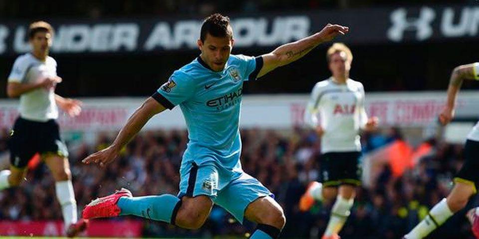 Agüero conduce al City al triunfo - Sergio Agüero en la victoria del Manchester City ante el Tottenham