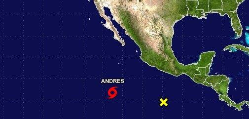 Andrés se convierte en huracán categoría I - Foto de National Hurricane Center