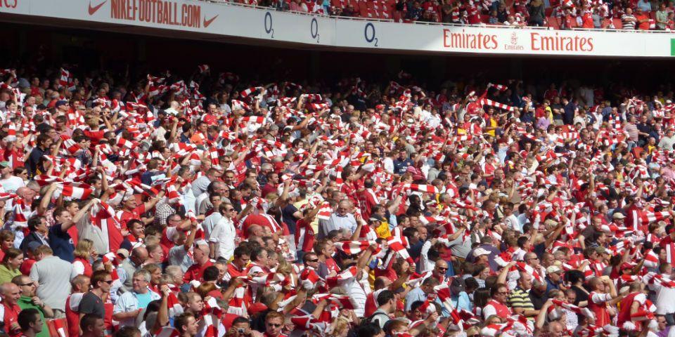 El equipo con más socios en el mundo - Aficionados del Arsenal