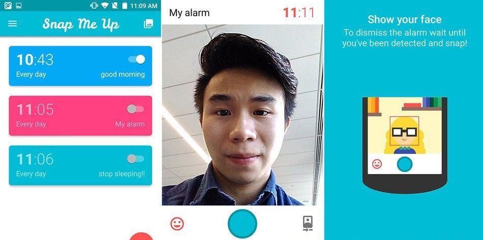 Tomar un selfie: la única forma de apagar este despertador - app