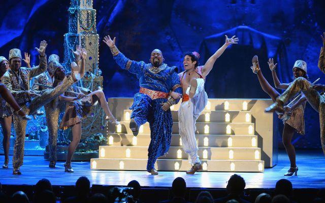 Anuncian obras de Broadway al 2 por 1 - Obra de Aladdin en Broadway. Getty Images