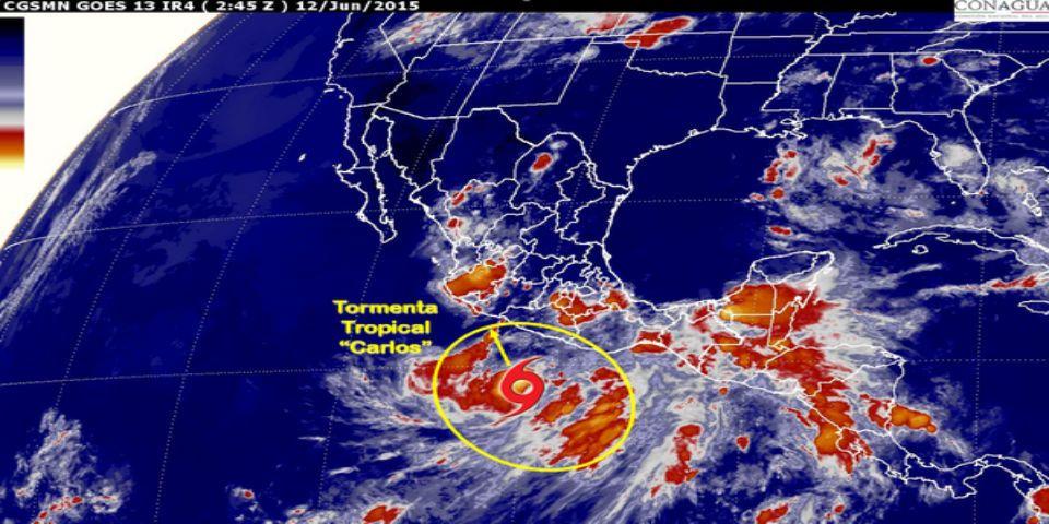 Carlos generará tormentas en centro y sur de México