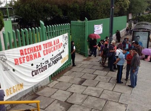 Se van a paro 60 mil escuelas - Foto de @liacastaneyra