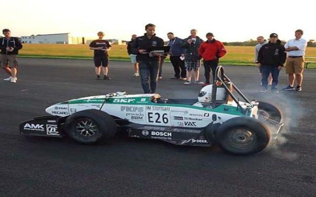 Video: auto eléctrico de estudiantes impone nuevo record de aceleración - Foto de The Telegraph