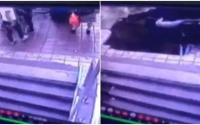Cinco personas son tragadas por la tierra en China - Foto de Mashable.