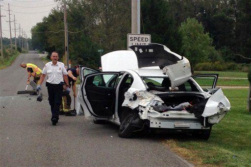 Araña provoca accidente vial - Foto de AP